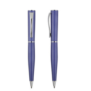 Luxury Blue Matt Metal Ball Pen