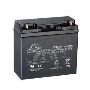 Lp12-18 12V Lead Acid Rechargeable Battery for Emergency Light