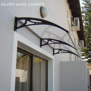 DIY Curved Polycarbonate Door Canopy with Plastic Bracket (YY-N) pictures & photos