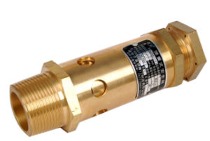 Air Compressor Parts Safety Valve 39588058 Stainless Steel Golden Cylindrical pictures & photos