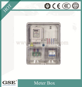 Transparent Drive-in Meter Box Prepaid Distribution Board Single-Phase Circuits Box of IP43 pictures & photos