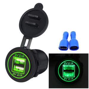 Dual USB Twin 2 Port 5V Universal in Car Lighter Socket Charger Adapter 12V-24V pictures & photos