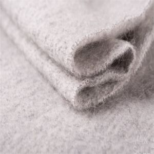 Mohair and Wool Mixed Wool Fabric with Soft Hand for Winter Coat
