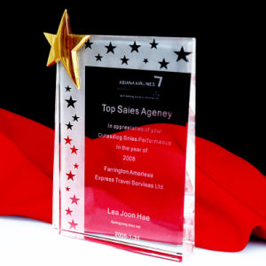 Wholesale K9 Crystal Glass Star Trophy pictures & photos