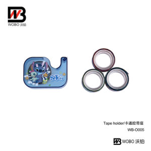 Color Cartoon Plastic Tape Holder for School Office Stationery