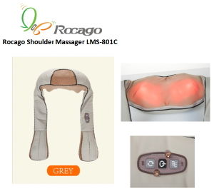 Electric Shiatsu Neck Shoulder Back Massager, Heating Massager pictures & photos
