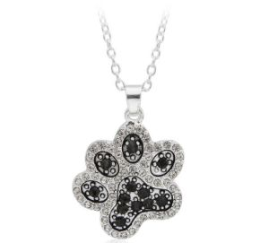 Black and White Pet Paw Pendant Necklace Clavicle Chain pictures & photos
