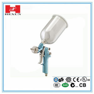 Hot Sale HVLP Spray Gun with Plastic Gravity Cup
