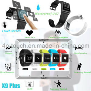 Waterproof Bluetooth Smart Silicone Bracelet with Fitness Tracker X9plus pictures & photos