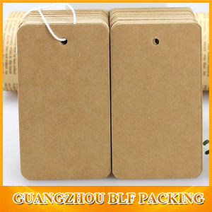 Custom Kraft Blank Luggage Paper Hang Tag (BLF-T116) pictures & photos