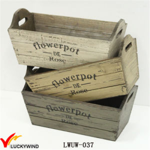 Multi-Color Distressed Wooden Planter for Garden Indoor Usage pictures & photos