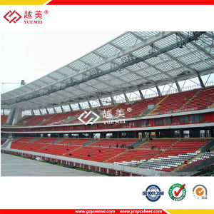 Yuemei Hollow Polycarbonate Sheet for Bus Station Roofing Material pictures & photos