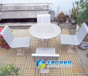 China Round Mesh Picnic Table For Garden Park Outdoor Chess Table - Mesh picnic table
