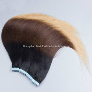 "26""-3.0g/Piece Straight Hair Extension Ombre Tape Hair Double Drawn Hair"