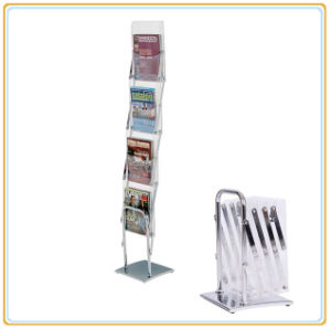 Portable A4 Size Acrylic Magazine Holder Brochure Holder