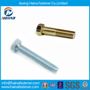 China Supplier DIN931 Color Zinc Plated Hex Bolts pictures & photos