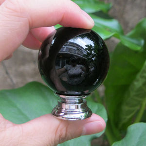 30mm Black Round Children Safe Crystal Knobs in Silver pictures & photos