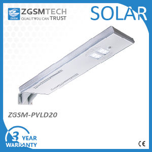 20W IP65 Outdoor All in One Solar LED Street Light with Ce Lm80 pictures & photos
