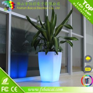 China Led Flower Pots Light Pot For Gardens Lobby Lighting Garden