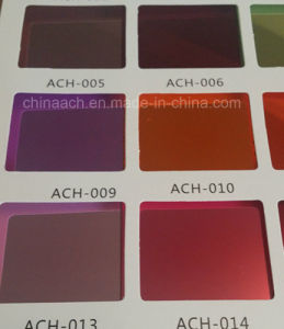 Color Extruded Acrylic Mirror Sheet for Wall/Partition