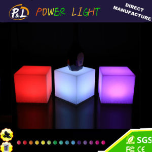 Home Furniture RGB Colorful LED Cube Ottoman pictures & photos