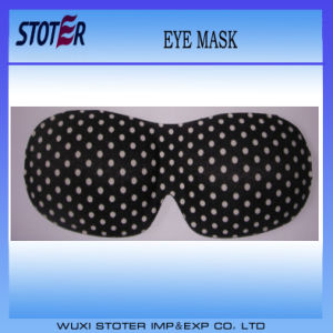 Factory Promotional Solid Pure Cotton Soft Luxury 3D Sleep Eye Mask