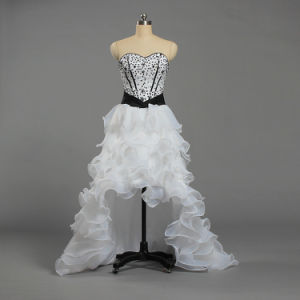 China W330 Women Short Front Long Train Wedding Dresses White And