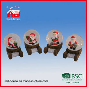 Christmas Souvenir Water Globe Santa Claus Water Ball with LED Lights