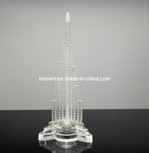 Crystal Burj Khalifa Tower Glass Building Model Craft (KS07050) pictures & photos