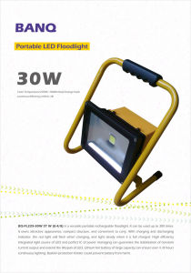Portable Floodlight/Bq-Fl225-30W St W+R/O (E-4/8)