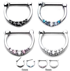 China 316l Surgical Steel Septum Clicker Nose Piercing Ring