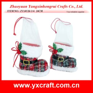 Christmas Decoration (ZY14Y26-3-4 24CM) Shopping Mall Snow Boot Christmas Decorations pictures & photos