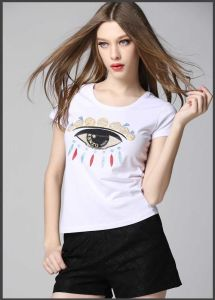 Wholesale High Quality Cheap Cotton Custom Women′s T-Shirt for Ladies pictures & photos