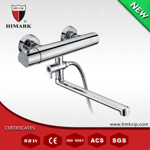 Chrome Finish Thermostatic Bath Shower Tap with Long Spout
