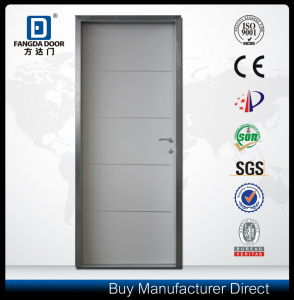 Decorative Aluminum Strips Interior Door with Optional Door Skin Color pictures & photos
