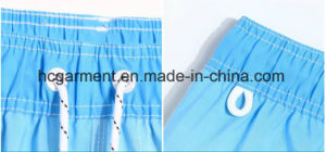 4 Way Fabric, Blue Color Printed Design Beach Shorts for Man pictures & photos
