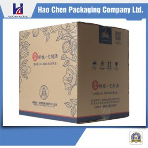 Cheap Corrugated Carton Kraft Paper Box for Wine Packaging pictures & photos