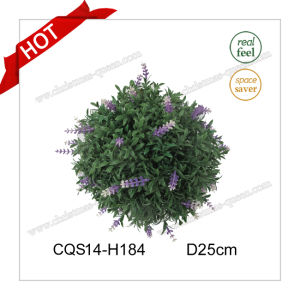 D25cm Plastic Purple Artificial Flowers Christmas Ball for Home Decoration