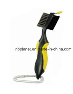 Double Sides Bristle Silicon Handle Golf Cleaning Brush pictures & photos