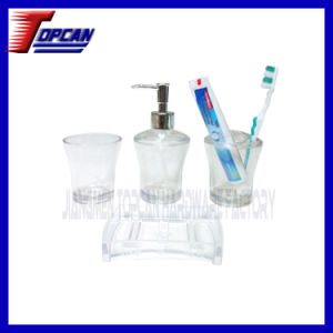 China Luxurious Clear Acrylic Bathroom Accessories Set Tczt W01