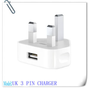 UK 3 Pin Plug AC Mains to 1A USB Power Wall Adapter Charger
