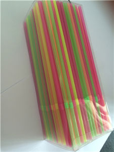 Neon Color Plastic Drinking Straw, Flexible Straw pictures & photos