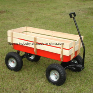 High Quality Garden Kids Wagon, Baby Wooden Cart, Tool Wagon Cart (TC1801) pictures & photos