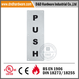 Square Ss Push Indication Sign Plate for Door pictures & photos
