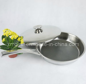 32 Cm Stainless Steel Non-Stick with Lid Saute Pan pictures & photos