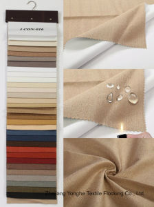 Waterproof Flocking Fr Woven Polyester Curtain Fabric for Hotel Window