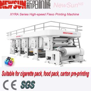 8-Color High-Speed Adhesive Paper Flexo Printing Machine pictures & photos