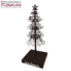 Wine Bottle Christmas Tree Rack.Metal Material Floor Christmas Tree Display Racks For Bottle Wine