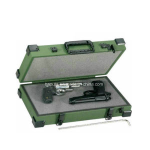 Aluminum Double Pistol Weapon Case with Metal Corners (HG-5001)