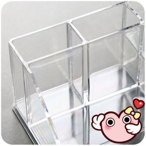Home Fashion Desktop Dust Transparent Acrylic Lipstick Rack pictures & photos